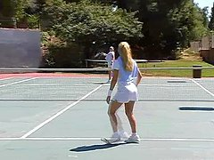 A Hot Threesome With Sexy Blonde Tennis Players