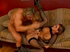 Tory Lane Fucking Hard in Fishnet Stockings