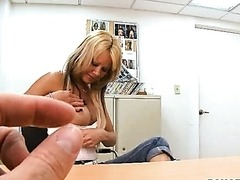 Hot Blond MILF Applying to Enter The Porn Business
