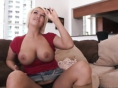 Busty Blond MILF Sucking Cock With All Her Experience