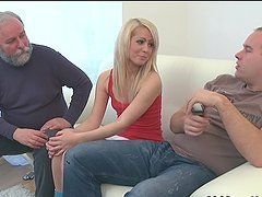 Nona fucked by some old fools in a threesome