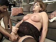 Elderly shemale Roxy Blaze gets her butt fucked doggy style