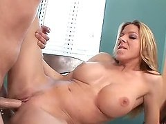 Blonde MILF With Huge Tits Fucks a Total Stranger!