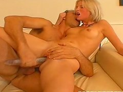 Amazing Blonde and Brunette Babes Fuck a Crazy Guy