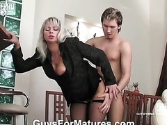 Blond MILF Enjoying A Fresh Hard Cock