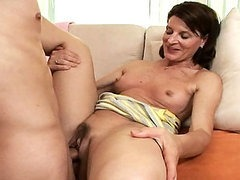 Mature Brunette Fucked By a Much Fresher Cock
