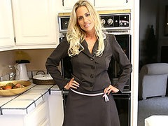Kylie Worthy Gets her MILF Pussy Fucked in the Kitchen
