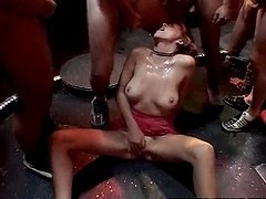 Slutty-Ass Bitches Gangbanged & Semen-Drenched