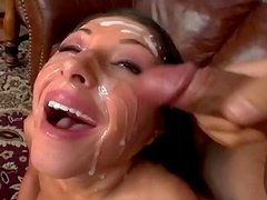 Messy Facial For Cock Sucking Whore.