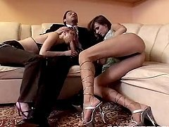Couple Of Sluts Vs 2 Big Dick Studs.