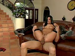 Presley Maddox rides a cock and gets a mouthful of cum