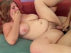 A Chubby Gal With Big Tits Gets Fucked By Dude.