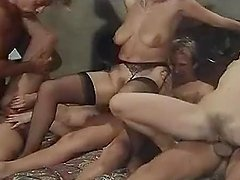 Retro video with hot girls getting fucked hard