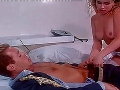 Retro video with lovely blonde girl getting pounded