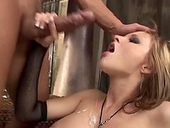 Tara White plays with a dildo and gets her ass fucked doggy style