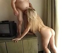 Kelly Stafford fucks an old dwarf after sucking his cock