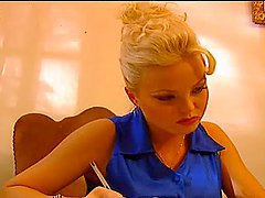 Desirable blond babe Silvia Saint sucks a huge Italian cock