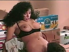 Smoking hot babe gets naked and sucks a huge cock