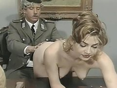 Military officer gets seduced by a busty babe Vanessa