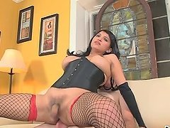 Incredibly Girly Like Tranny Fucks and Gets Fucked with Bald Guy