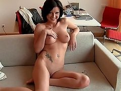Slutty Aneta takes huge cock in her tight ass