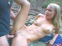 Peeping Tom Catches a Horny Couple Banging in the Woods