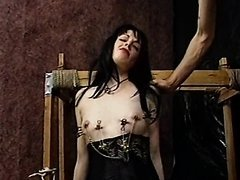 Submissive Goth Babe Lets Her Master Spank and Whip Her Perfect Ass