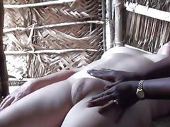 Blonde Mature With a Swollen Pussy Gets Massaged By an Ebony Babe