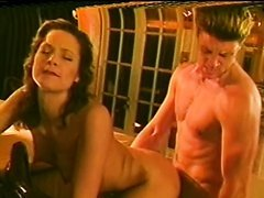 Retro Brunette Bionca Sucks and Fucks a Big Cock